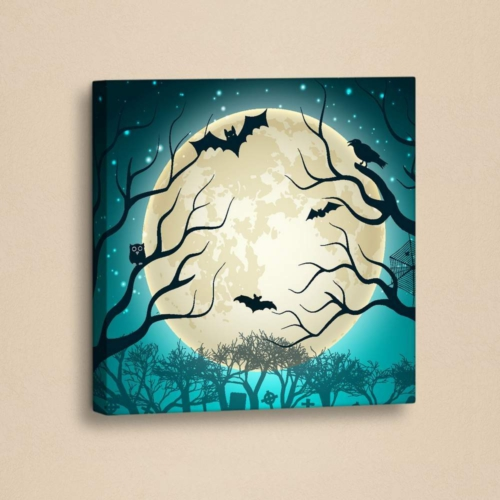 Decor Desing Halloween Kanvas Tablo Hl024