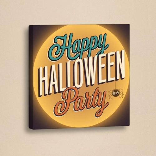 Decor Desing Halloween Kanvas Tablo Hl029