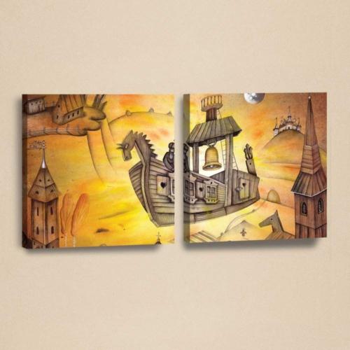 Decor Desing Kanvas 2'li Tablo Seti Kad267