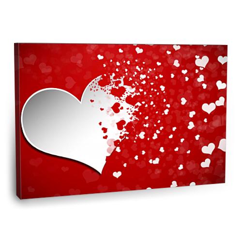 Fotografyabaskı Kalp Tablosu 75 Cm X 50 Cm Kanvas Tablo
