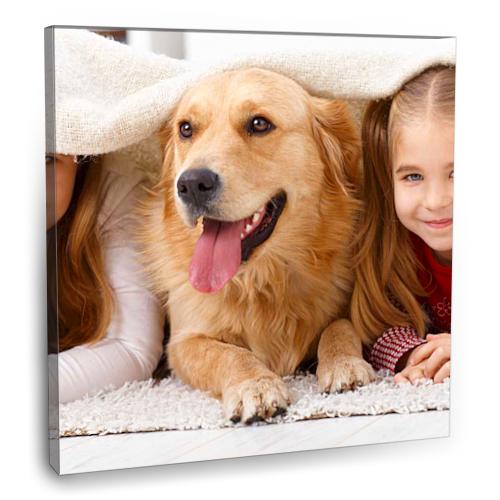 Fotografyabaskı Küçük Kızlar Ve Köpek Tablo 70 Cm X 70 Cm Kanvas Tablo Baskı