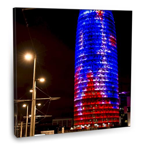 Fotografyabaskı Agbar Tower Tablo Barselona 70 Cm X 70 Cm Kanvas Tablo Baskı