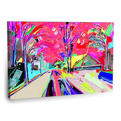 Fotografyabaskı Kış Manzarası Tablosu 2 75 Cm X 50 Cm Kanvas Tablo Baskı