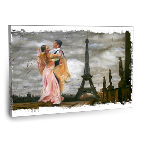 Fotografyabaskı Paris'Te Vals Tablo 75 Cm X 50 Cm Kanvas Tablo Baskı