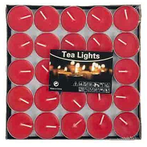 Tvshopmarket 25 Li Kırmızı Tealight Mum