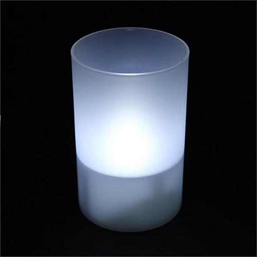 Tvshopmarket Cam Mumluk İçi Led Beyaz Işık Tealight