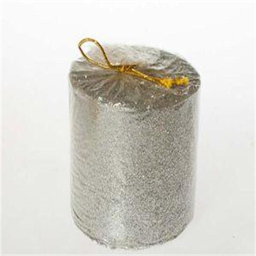 Tvshopmarket Gümüş Rengi Dekoratif Mum