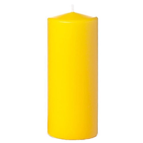 Tvshopmarket Sarı Kütük Mum ( 8 X 16 )