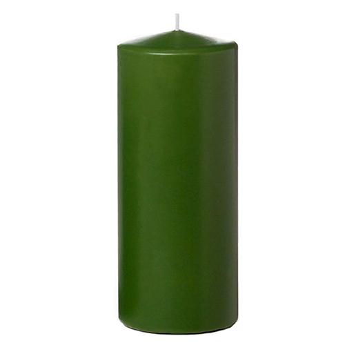 Tvshopmarket Yeşil Kütük Mum ( 8 X 16 )