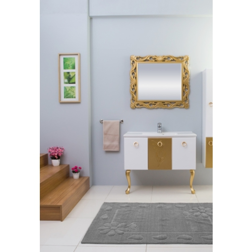 Boncuk Banyo Lessie 100 Cm Banyo Dolabı Mdf