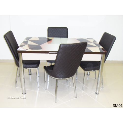 Teknoset Mutfak Masa Takımı Sm01Kahve