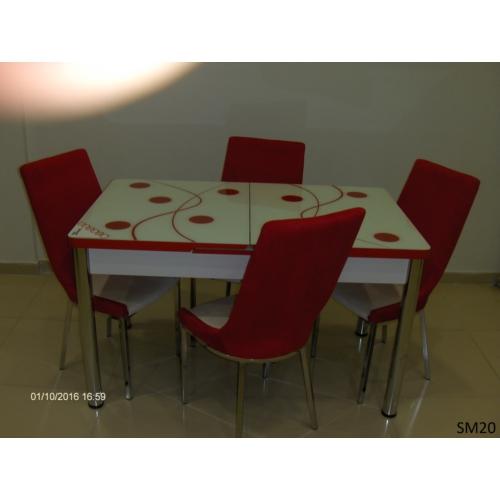 Teknoset Mutfak Masa Takımı Sm20Kırmızı