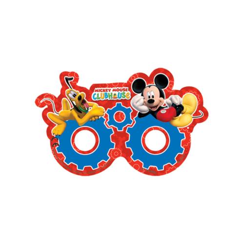 KullanAtMarket Mickey Playful Kağıt Maske - 6 Adet