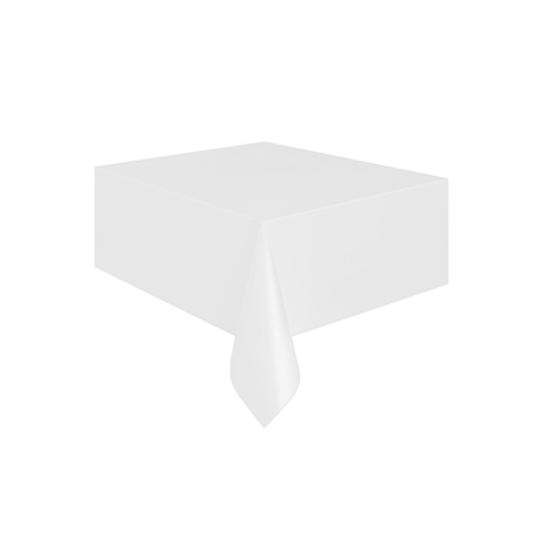 KullanAtMarket Beyaz Plastik Masa Örtüsü -1 Adet