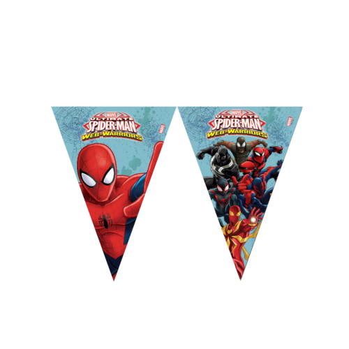KullanAtMarket Spiderman Savasçi Bayrak Afis -1 Adet
