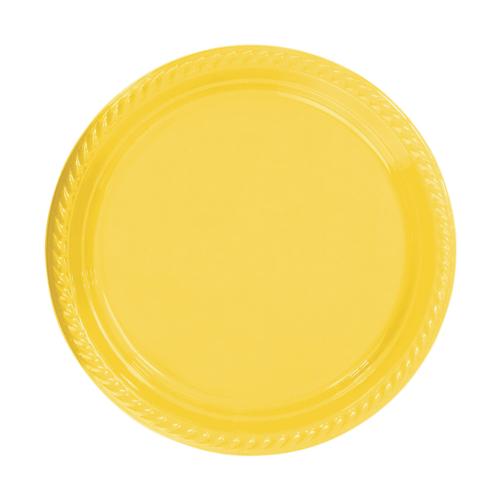 KullanAtMarket Sarı Plastik Tabak 22 cm -10 Adet
