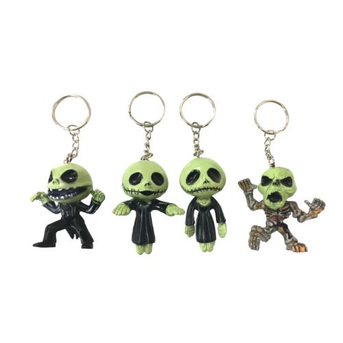 KullanAtMarket Yeşil Monster Kurukafa Anahtarlık 2li - 2 Adet