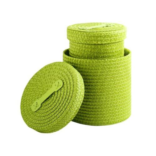 Ithal Cın İkili Hasır Kütü Set Yeşil