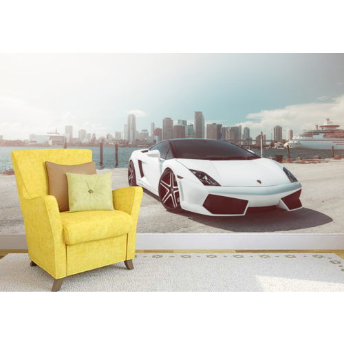 Lamborghini 001 Duvar Sticker 250x250cm