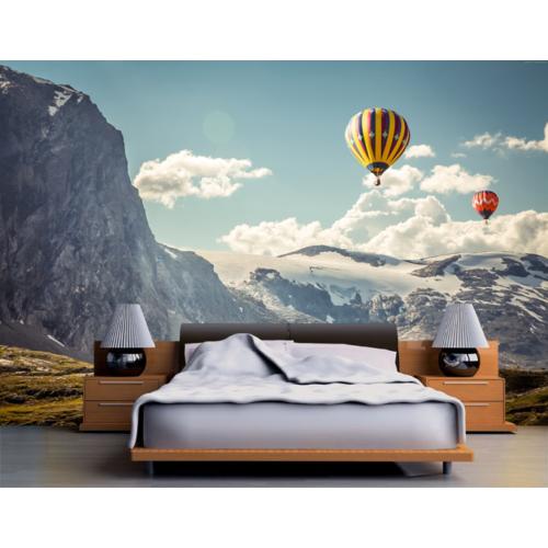Karlı Dağlar ve Balon Duvar Sticker 350x250cm