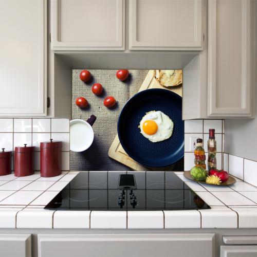 Kokmaz Bulaşmaz Silinebilinir Mutfak Sahanda Yumurta Sticker 58 x 52 cm