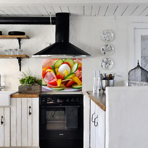 Kokmaz Bulaşmaz Silinebilinir Mutfak Rengarenk Sticker 58 x 52 cm