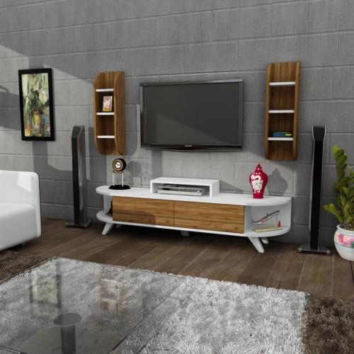 Sanal Mobilya Aral Tv Ünitesi Duvar Ünitesi 180 Cm