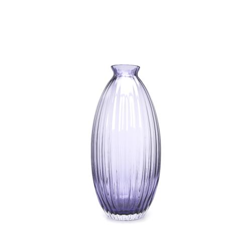 Beymen Home Dynasty Gallery Glass Vase Rıbbed Beehıve Vıole Mor Vazo