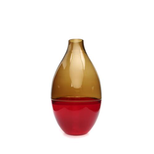 Beymen Home Dynasty Gallery Glass Vase Two Pıec TuruncuKırmızı Vazo