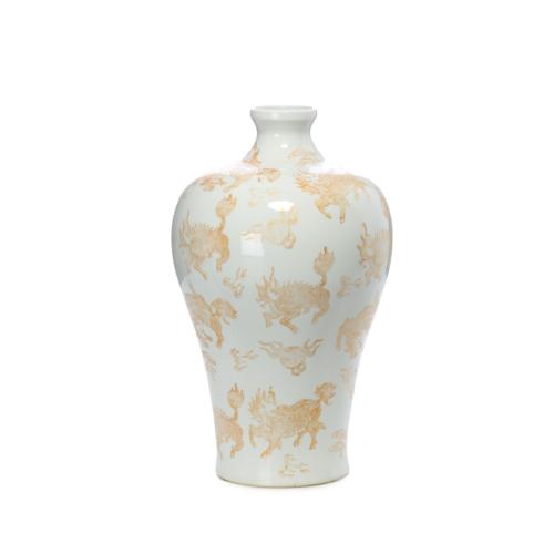 Beymen Home Legend Of Asia Whıte Plum Vase Gold Kylın Va Beyaz Vazo