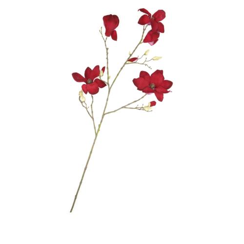 Beymen Home Silkka Magnolıa Spray 100 Cm Kırmızı Çiçek