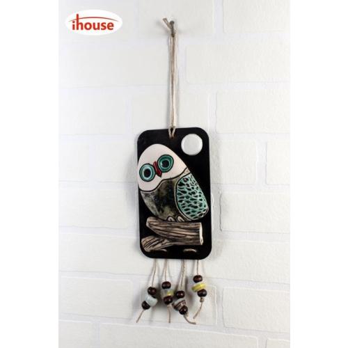 iHouse İh140 Tekli Baykuş Duvar Süsü Bronz