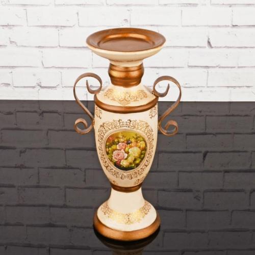 iHouse 4174 Dekoratif Şamdan Krem