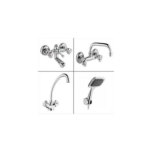 Erce Klasik Çevirmeli Banyo + Lavabo + Mutfak Bataryası + Duş Takımı