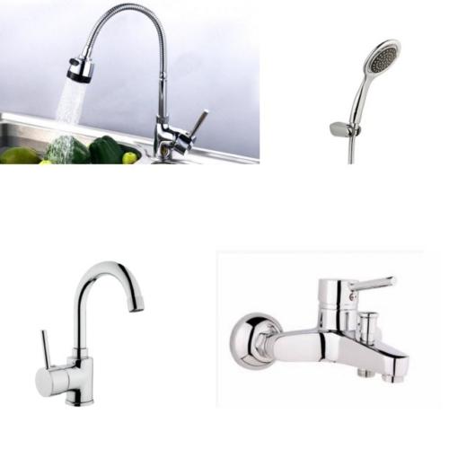 Erce Delta Spiralli Evye + Lavabo + Banyo Bataryası + Duş Takımı
