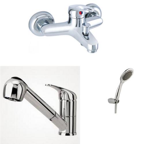 Erce Mix Spiralli Mutfak Ve Banyo Bataryası + Duş Takımı