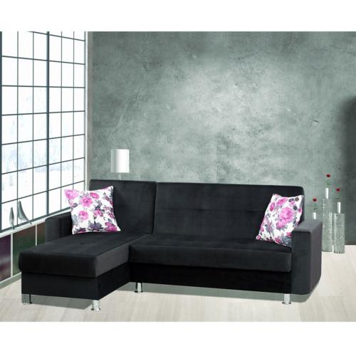 Sigma Tasarım Polo Köşe Takımı Yataklı Sandıklı Siyah