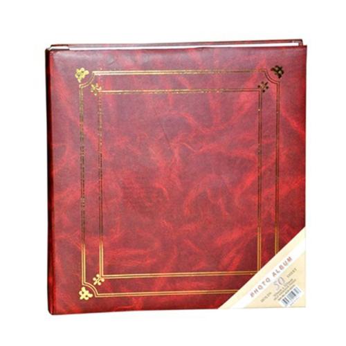 50 Sayfa Yapıştırma Fotoğraf Albümü-Kırmızı