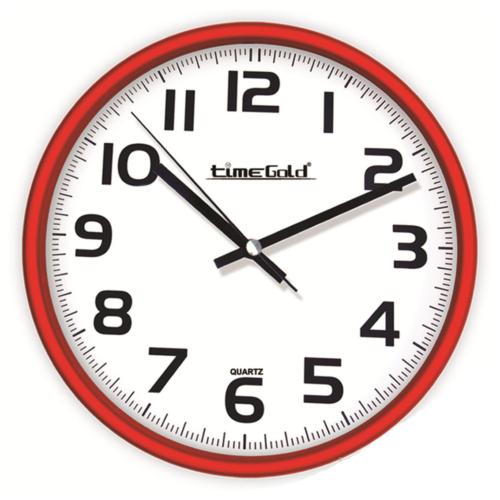 Kırmızı Çerçeve Okunaklı Duvar Saati