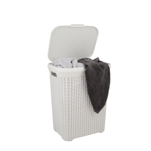 Saban Hasır Çamaşır Sepeti Beyaz