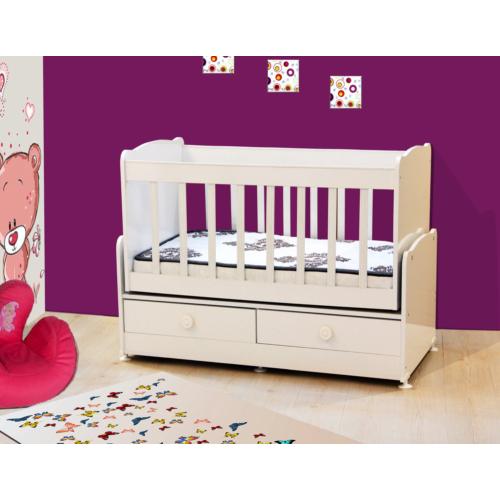 Banana Baby&Kids Besoko 2 Çekmeceli Beşik Beyaz