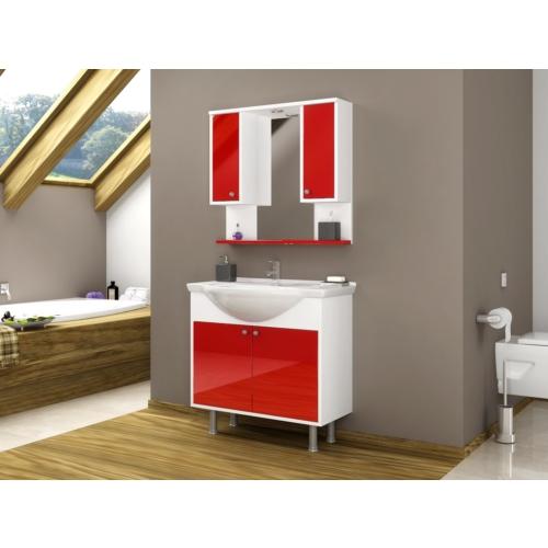 Bestline İnka 80 cm Kırmızı Banyo Dolabı