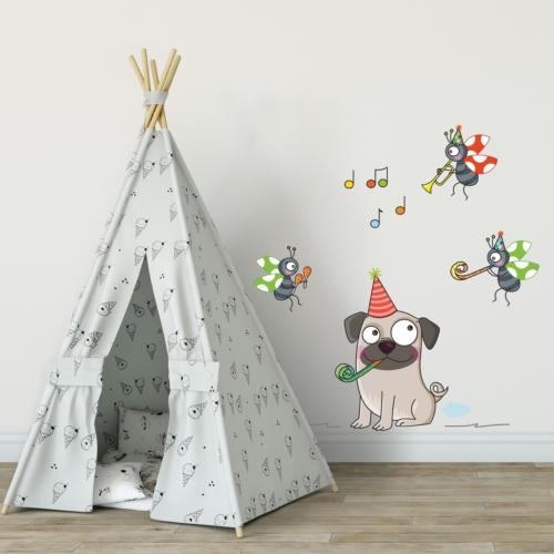 DekorLoft Komik Köpek Çocuk Odası Duvar Sticker CS-303