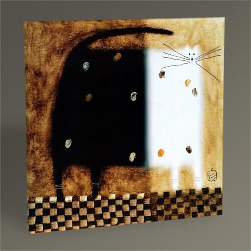 Tablo 360 Black White Cat Tablo 30X30