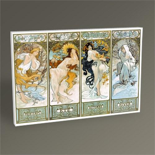 Tablo 360 Alphonse Marie Mucha-Les Saisons,1897 Tablo 45X30