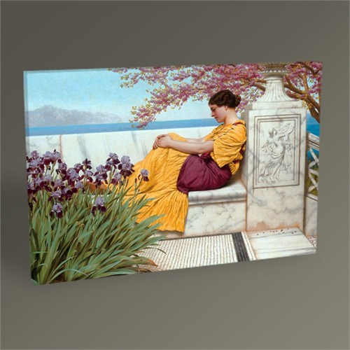 Tablo 360 John William Godward Under The Blossom That Hangson The Bough Tablo 45X30