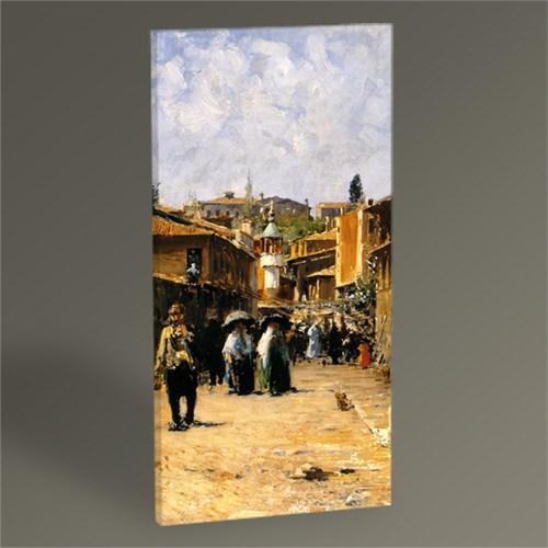 Tablo 360 Fausto Zonaro Bir İstanbul Sokağı Tablo 60X30