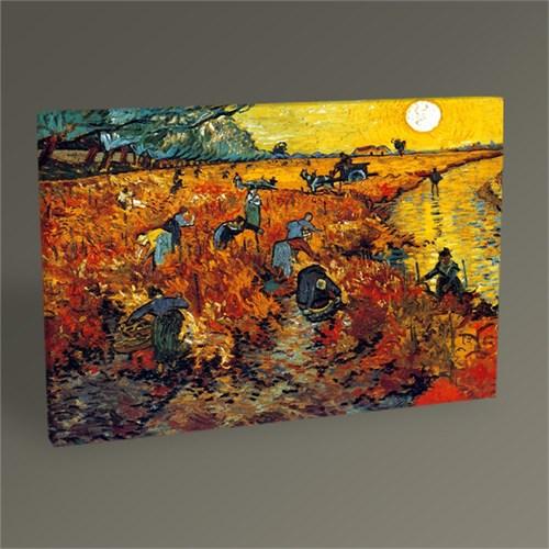 Tablo 360 Vincent Van Gogh The Red Vineyard At Arles Tablo 45X30