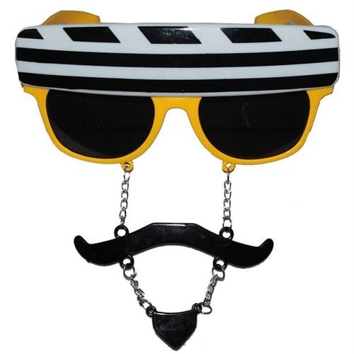 Pandoli Parti Eğlence Gözlüğü Top Sakallı Sarı