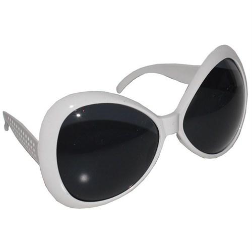 Pandoli 60 Lı Yıllar Tiki Parti Gözlüğü Beyaz